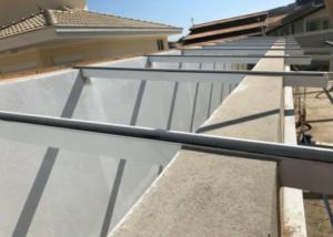 Claraboia Skylight de vidro laminado com Perfil de Aluminio T invertido Polysolution