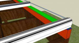 Pergolado de Madeira criando caimento - PC 5550 + Viga Calha PC 4412