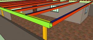 Cobertura de Policarbonato Perfil 100x50 + Perfil T com 6 metros Polysolution
